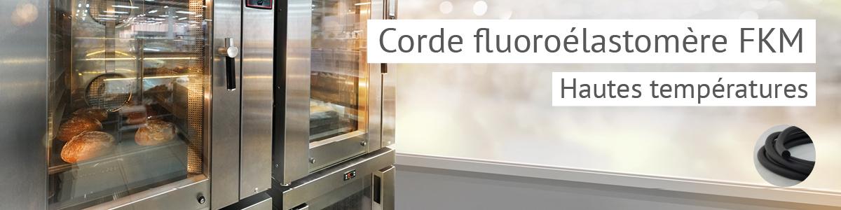 Corde élastomère fluoré, résistant aux hydrocarbures, jusqu'à 200°C