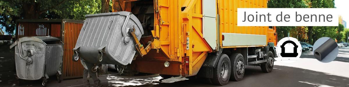 Joint de bennes et compacteurs à déchets