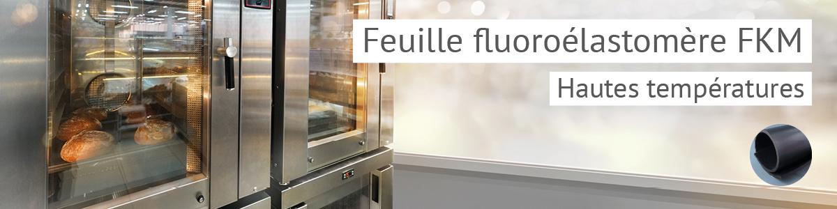 Feuille élastomère fluoré, huile jusqu'à 250°C