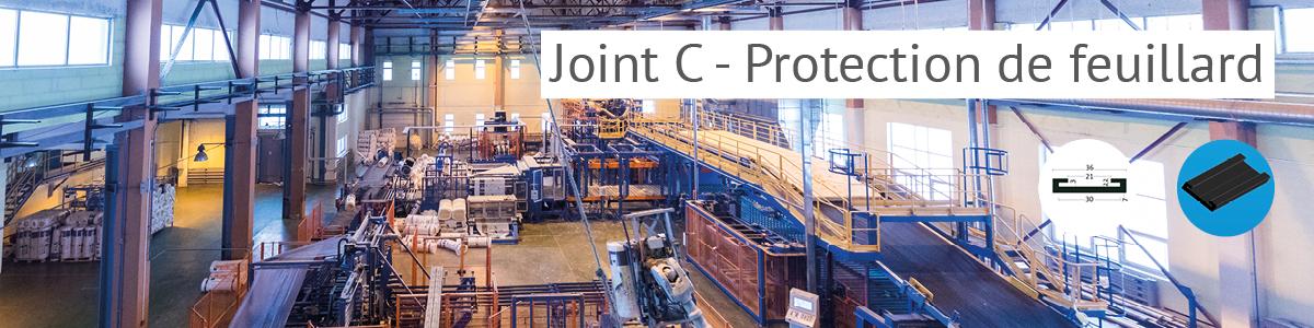 Joint C - protection de feuillard