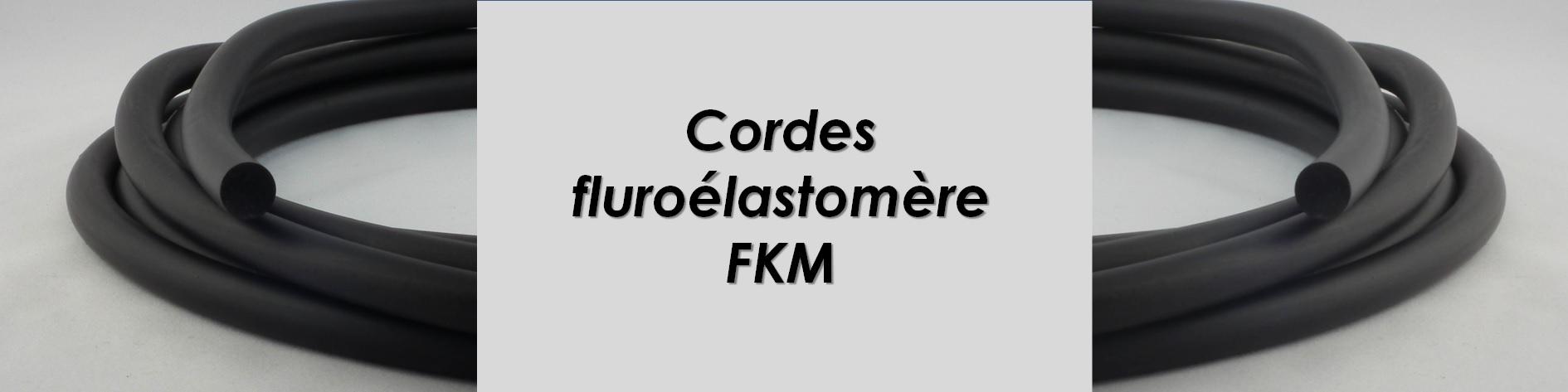 Corde elastomère Fluoré résistant aux hydrocarbures, jusqu'à 200°C