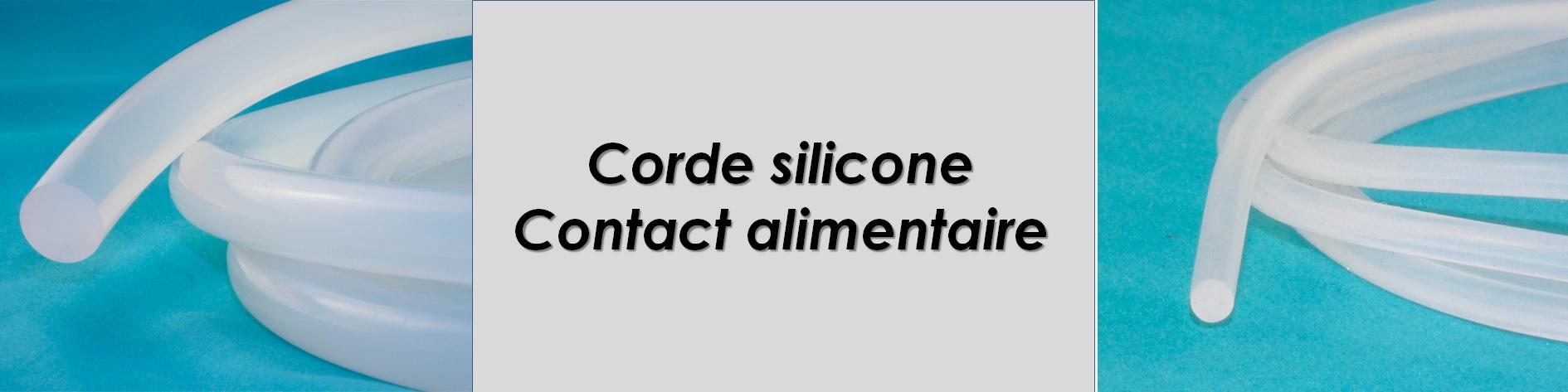 Corde ronde silicone , emploi jusqu'a 200°C