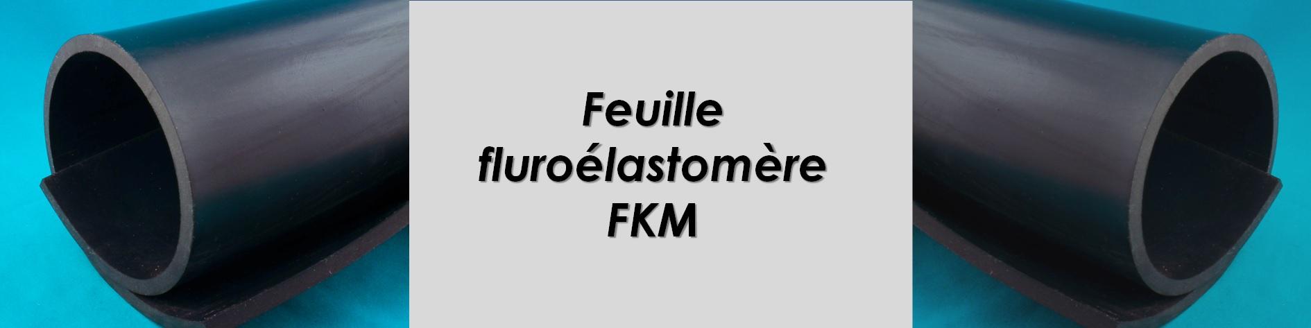 Feuille Élastomère Fluoré, huile jusqu'à 250 °C
