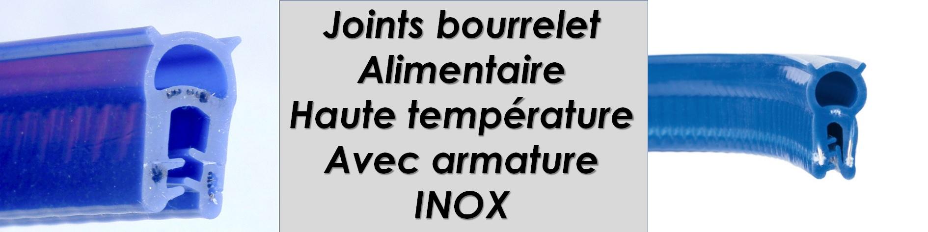 Joint bourrelet tubulaire armature Inox