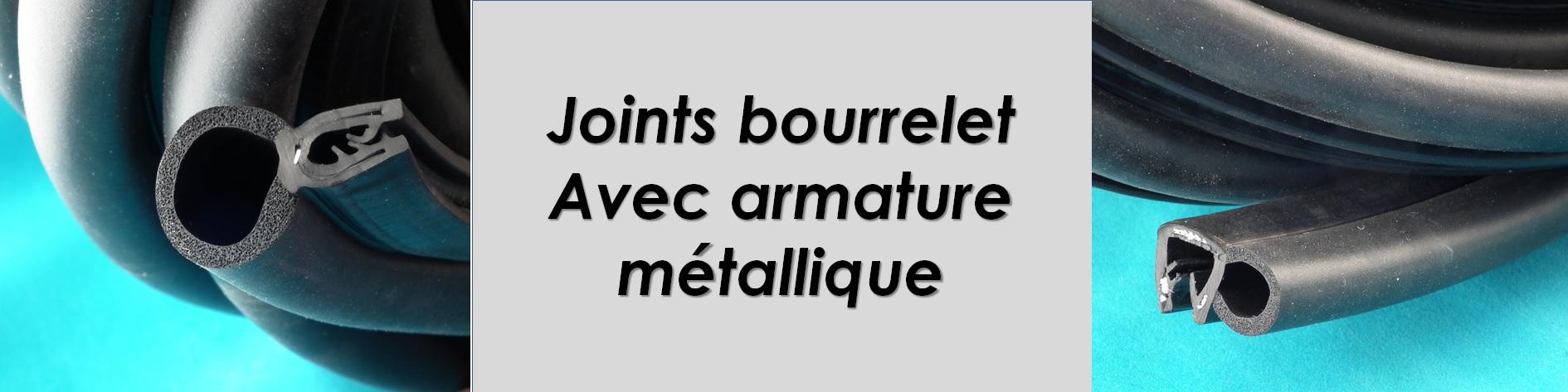 Joint à bourrelet mousse avec pince armature métallique