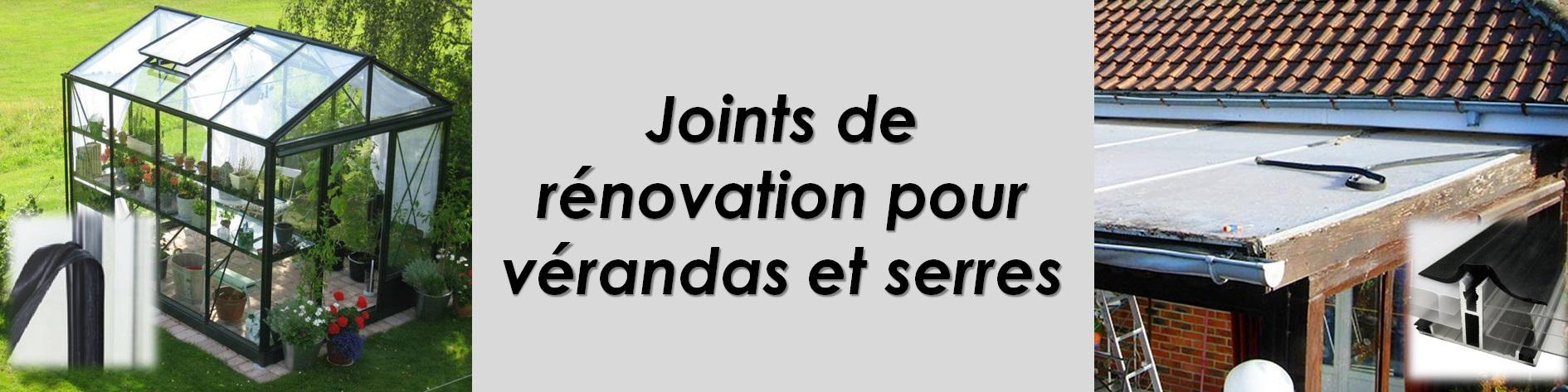 Joint de rénovation pour vérandas et serres