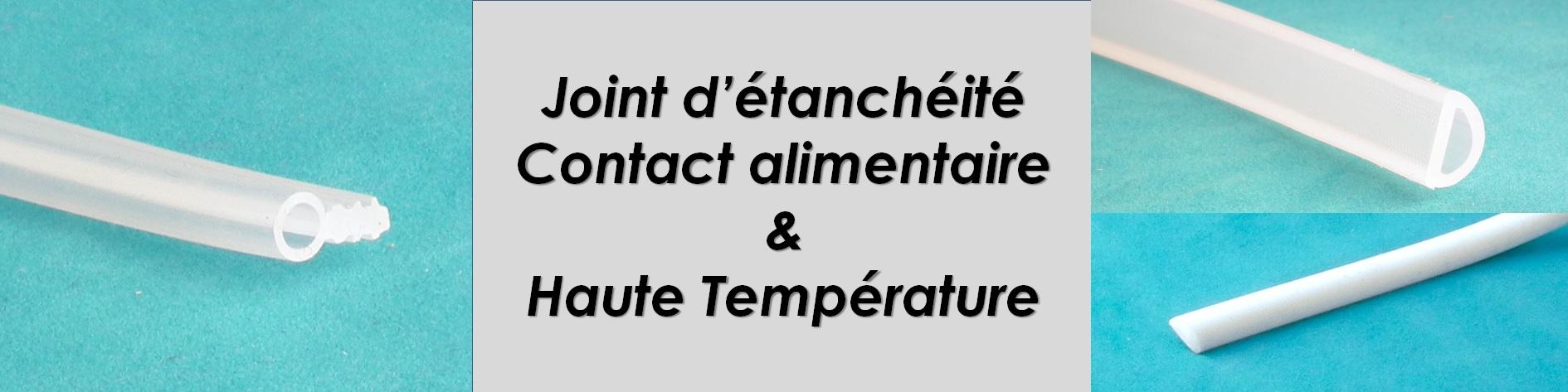 Profilés forme e, étanchéité de four, étuve, porte isotherme jusqu'à 200°C