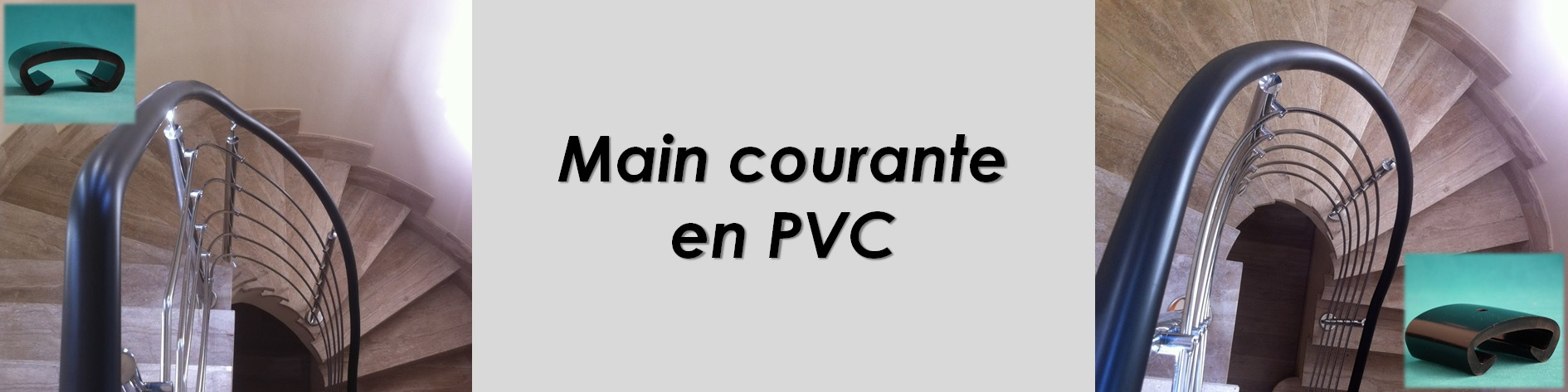 Main courante en PVC