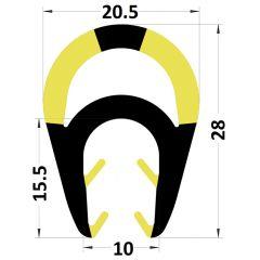 PM29041/F6086 - Amortisseur de choc protection pour IPN - Carton de 10 longueurs