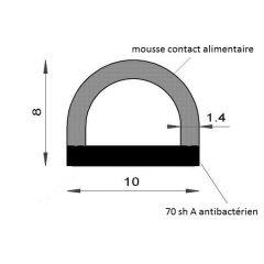 PM02041/F2631 - Profilé bi-dureté alimentaire - Couronne 25 m