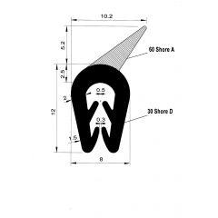 PM01011/F1938 - Bord de tôle avec lèvre - Couronne 100 m