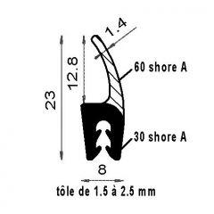 PM01012/F1436 - Bord de tôle avec lèvre - Couronne 100 m