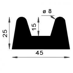 PM02025/F345 - Protection choc liston - Couronne 25 m