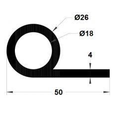 PM03037/F602 - Joint note de musique - Couronne 25 m