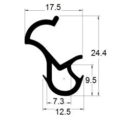 PM04006/F2218 - Joint pour huisserie - Couronne 25 m