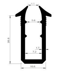 PM04032/F225 - Joint de vitrage épaisseur 6 mm - Couronne 25 m