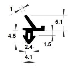 PM04048/F279 - Joint d'étanchéité de vitrage - Couronne 25 m