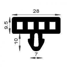 PM08001/F025 - Joint pupitre de verre - Couronne 25 m