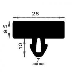 PM08002/F046 - Joint pupitre de verre - Couronne 25 m