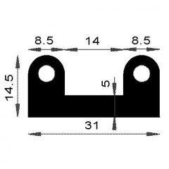 PM12002/F1303 - Protection caoutchouc - Couronne 25 m
