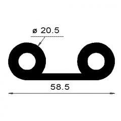 PM12010/F285 - Profil note de musique - Couronne 25 m