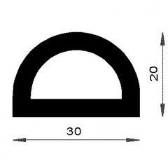 PM12016/F1482 - Butée demi ronde - Couronne 25 m
