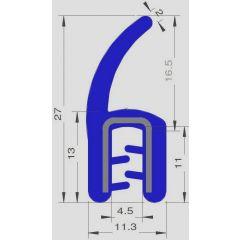 PM17014 - Bord de tôle FDA armé inox - Couronne 25 m