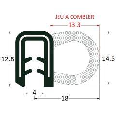 PM17022 - Joint armé avec bourrelet mousse - Couronne 50 m