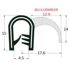 PM17029 - Joint d'étanchéité à lèvre latérale - Couronne 50 m