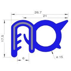 PM17052 - Bord de tôle HT FDA armé inox - Couronne 25 m