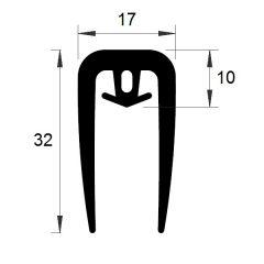 PM19006/F2675 - Profil serreur de plaques - Couronne 25 m