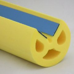 PM29007/F4578 - Protection d'angle adhésive Ø 40 mm Jaune - Carton de 10