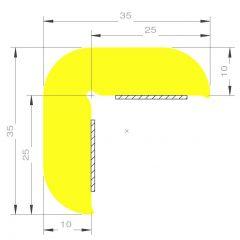 PM29008/F4590 - Protection d'angle en L 35 x 35 mm - Carton de 10 m