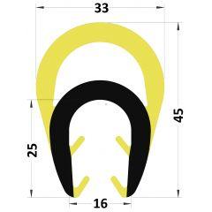 PM29039/F5216 - Amortisseur choc protection bord de tôle - Carton de 10 longueurs